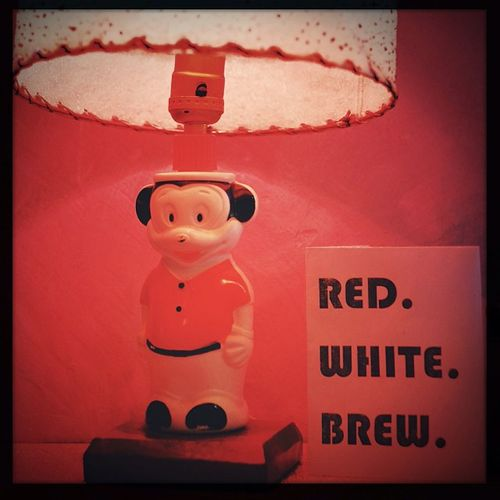 Red. White. Brew. Blueplate Yeg Oggl Hipstamatic florence w40 alistairhenning edmontonart edmonton canada urban urbanart yegart