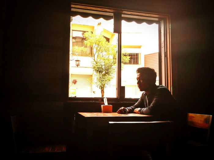Alone Only Men Window Adults Only One Man Only Indoors  One Person Sitting People Men Photography Natural Photography Young Adult Real People Day Adult Fresh Landscape Togetherness