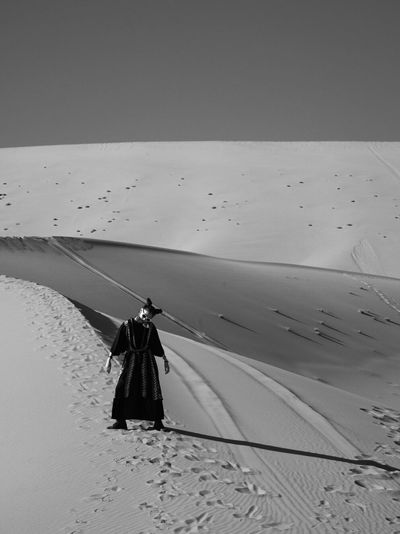 DesertJester Sand Beach Day Real People Outdoors Clear Sky One Person Nature Full Length Vacations Desert Scenics Sand Dune Beauty In Nature Sky People Lost In The Landscape Lost In The Landscape Lost In The Landscape Be. Ready. The Fashion Photographer - 2018 EyeEm Awards