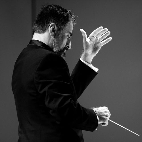 Performance Music Composer Conductor Orchestra Concert  Concert Orchestra Classical Blackandwhite Black And White Black & White Black And White Photography Waist Up Playing Person Indoors  First Eyeem Photo