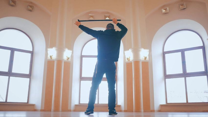 Standing Full Length Indoors  Window One Person Day Real People Adults Only People Human Body Part Adult Jewish Dance Dancing Cane Sinagoga Success Sportswear Indoor Movement Happy Style