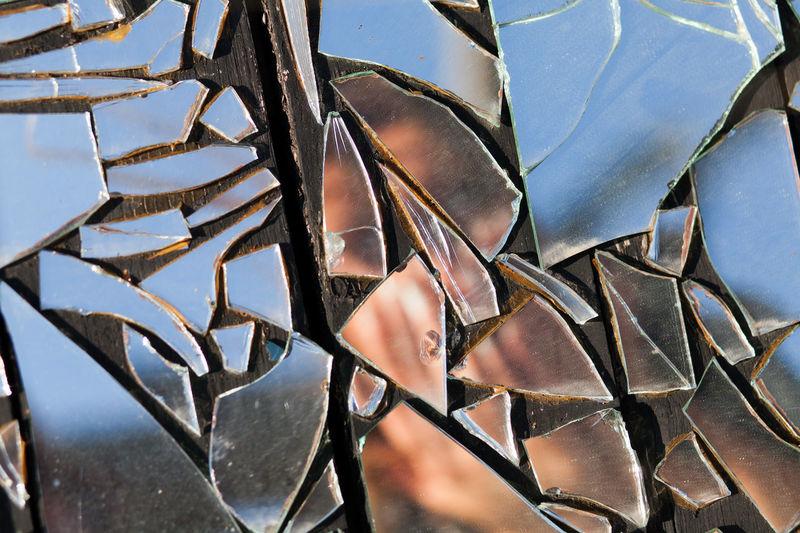 Full Frame Shot Of Broken Mirror