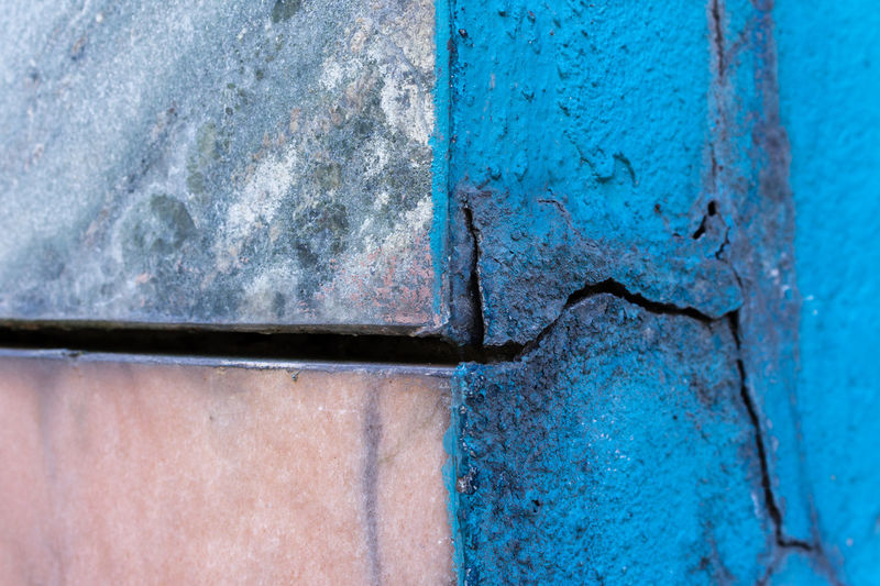 Abstract Blue Built Structure Close-up Crack Cracked Day Detail Deterioration No People Old Paint Part Of Run-down Textured  Wall TakeoverContrast