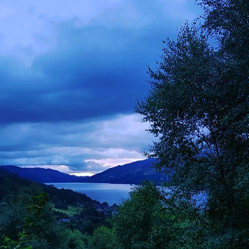 sunrise over Loch Earn Tree Mountain Water Sky Cloud - Sky Landscape Tranquil Scene Countryside Scenics