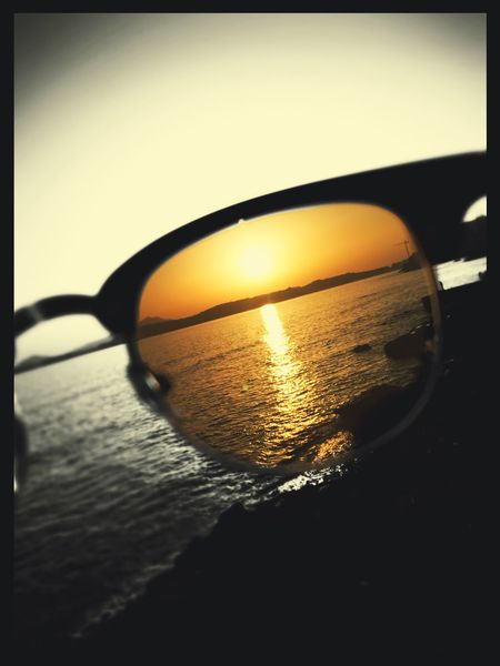Sunset Subglasses Pozzuoli, Sunset, Pozzuoli Sea Water Reflection Beauty In Nature Sun No People Horizon Over Water Nature Scenics Outdoors Sky Silhouette Sunlight Close-up Clear Sky Day