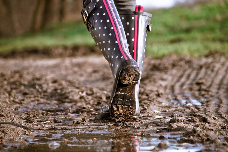 Dotted Gumboots Muddy Waters Puddleography Wellies  Wellington  Close-up Day Dots Low Section Mud Muddy Nature No People Outdoors Patriotism Points Puddle Puddle Reflections Rubber Boots Scored Walking Water Wet