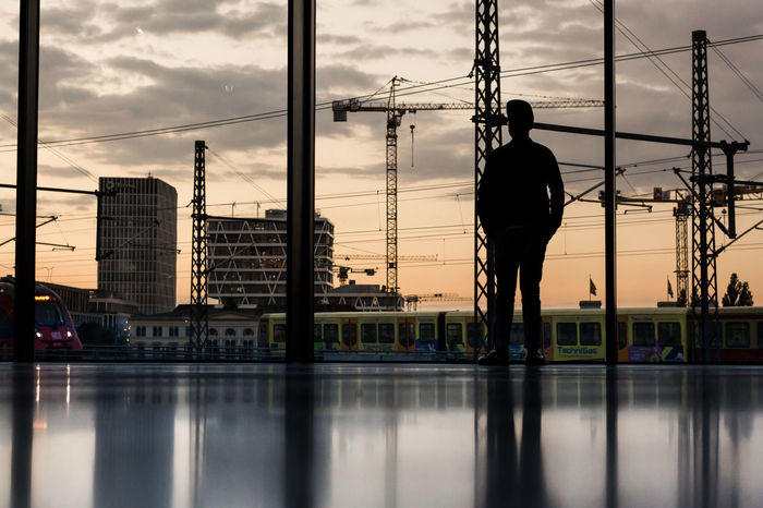 Futurium Berlin Berlin Berlin Love Berlin Mitte Berlin Photography Architecture Berliner Ansichten Berlinstagram Building Exterior Built Structure Cable City Day Futurium Men Modern One Person Outdoors People Real People Reflection Silhouette Sky Sunset Water Waterfront Discover Berlin The Week On EyeEm
