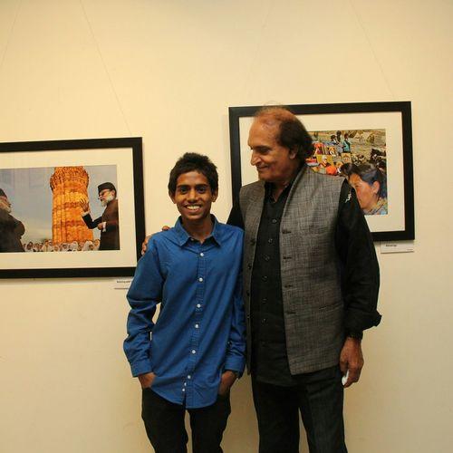 With RaghuRai sir Magnumphotos at my first Exhibition Photoexhibition