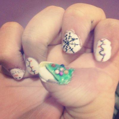 My nails are festive Christmas Nailart  Nail Art