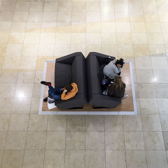 Boredom Chair Furniture High Angle View Indoors  Pattern Pattern, Texture, Shape And Form People Seat Settee Shopping Sitting