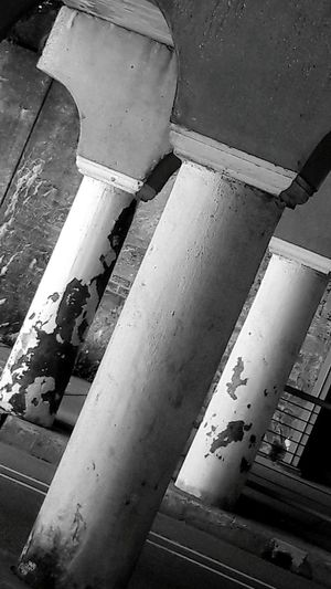 Under the viaduct Architectural Column Business Finance And Industry Architecture Built Structure No People Indoors  Day Close-up Metal Industry