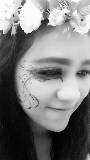 opps! what's happening? !!! Blackandwhite Today's Hot Look Protrait Facepaint