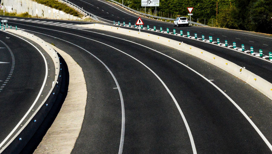 Curve Day Outdoors Sports Track Running Track No People Tree Sports Race