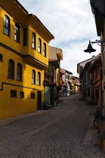 Cute Houses on the Side Streets of Eskisehir Colorful Colors Color Apartment Nature Window Street Houses House Cute Eskişehir Turkey Architecture Built Structure Building Exterior Sky Cloud - Sky No People Outdoors Day Travel Destinations City