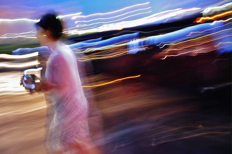 One Person Motion Blurred Motion Women Long Exposure Adult Humanity Meets Technology