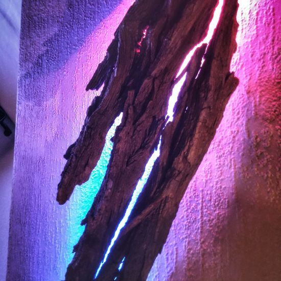 2meter Rinde mit LED and derwand ILOVE MÜLL BenApart DIY
