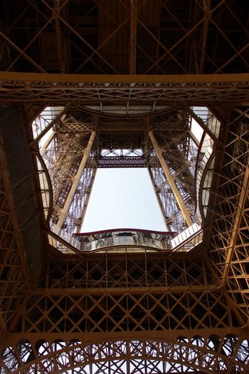 eiffel tower Architecture Built Structure Day Eiffel Fame Girder Indoors  Low Angle View Metal No People