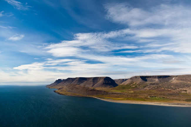Beauty In Nature Cloud - Sky Day Extreme Terrain Iceland Landscape Nature No People Outdoors Panorama Polfilter Rock - Object Scenics Sky Tranquil Scene Water