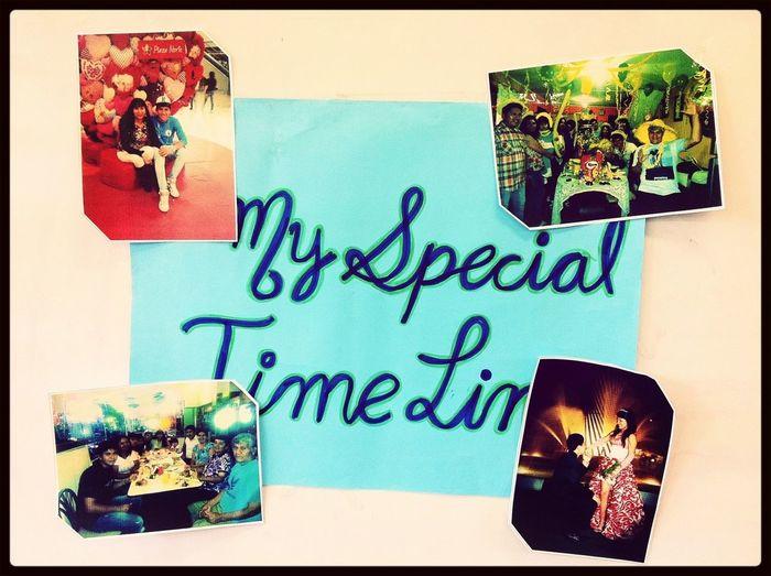 My special time line :'D exposición de inglés ;)!