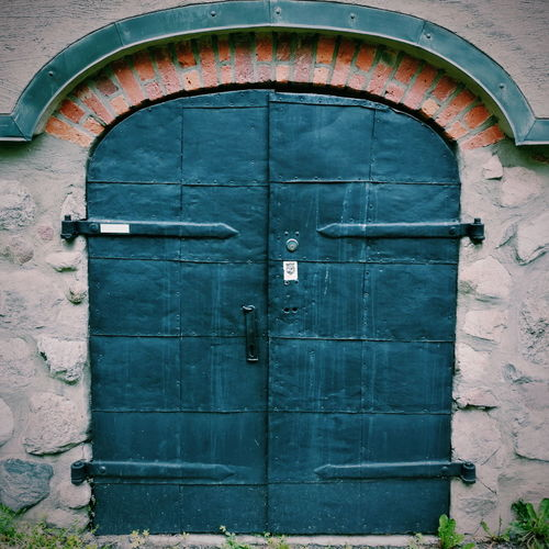 Door Closed Entrance Safety Protection Day Outdoors Security No People Wood - Material Building Exterior Built Structure Architecture Close-up Skansen Stockholm Old Sweden Old Swedish Barn Multi Colored Architecture Olddoorcollection Doors Nicedoors Doorsofstockholm