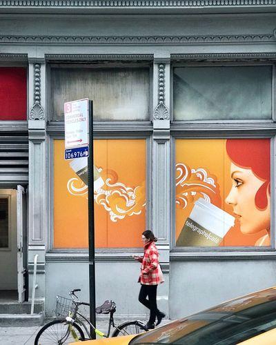 Coffee wall art. City EyeEm Best Shots EyeEm Gallery EyeEm Selects EyeEm Mural Art Mural Walking ShotOnIphone New York City New York Chelsea Streetphotography Graffiti Wall Art Coffee Coffee Time