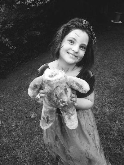 Halloween Creepy Zombiegirl  Wildchild My Little Girl Fun Black And White