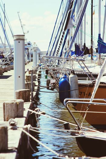 Nautical Vessel Harbor Water Sea No People Day Baltic Sea Sailing Ship Luxury Blue Yacht Boat Deck Shipping  Ship's Bow Sailboat Rope Sailing Deck Sailing Ship Mast Outdoors Summer Sun Rigging Yachting Sport