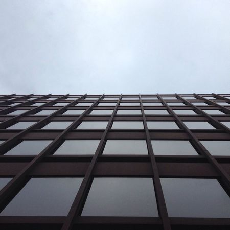 Architecture Low Angle View Building Exterior Office Building Square Modern Cloudy Grey Sky Even No Filter