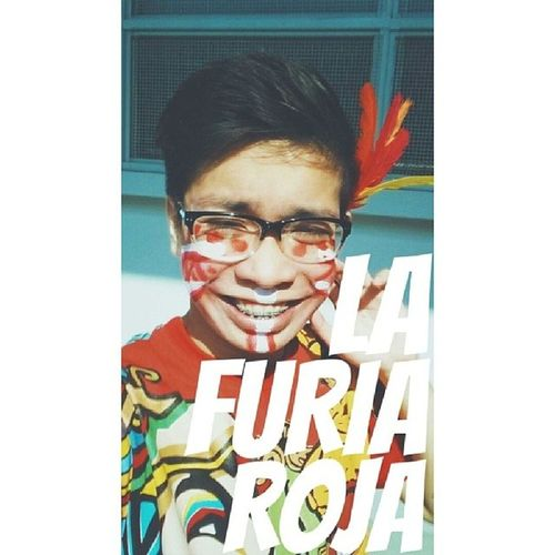That semi-mandatory Cheering Competition day selfie HAHA LOVE YOU SENIORS!!!!!!!!! LAFURIAROJA ClassOf2014 THEREDFURY