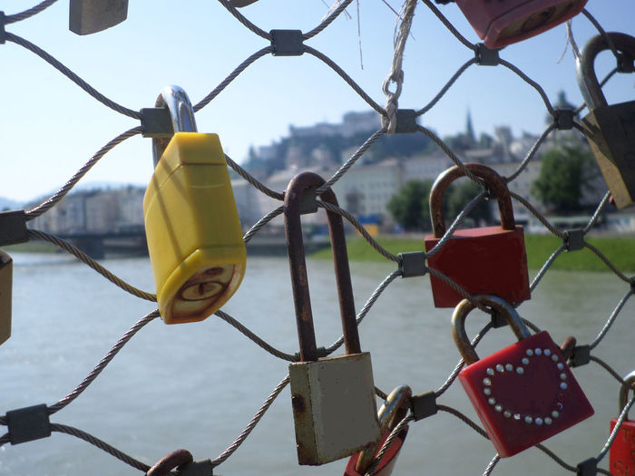 love and commitments Chainlink Chainlink Fence Close-up Day Eternity Impact Lock Love Love Outdoors Protection Travel Travel Photography Vienna