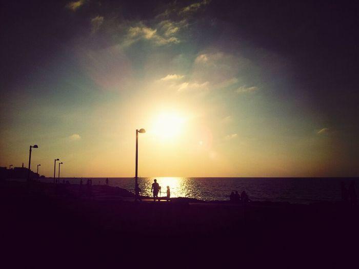 فلسطين غروب_الشمس بعدستي يافا