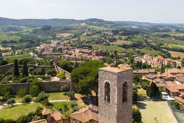 Cityscape Landscape Tower Tuscany Travel Destinations Aerial View High Angle View