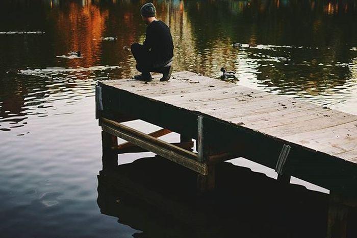 At the end. Theend Thisistheend Attheend Dock Ducks Water Pond Lake Darkwater Portrait PortraitPhotography VSCO Vscocam Vscovisuals Vscogrid Vscofilm Bleachmyfilm Boston Bostoncommon Park Evening Nikond5300 Sxe Blaqk Fall autumnvscofallvscoautumncolorsvscowarm
