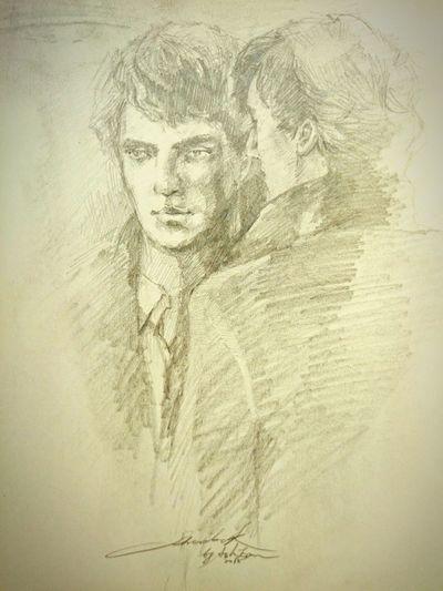 Portrait ArtWork Fanwork Sherlock Holmes Men Style