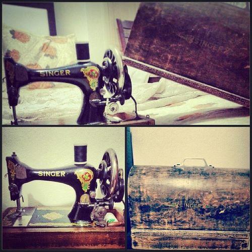 Singer  Dikismakinasi 40years Sewingmachine propertiy old antique handmade DreamsOfEveryGirls :D