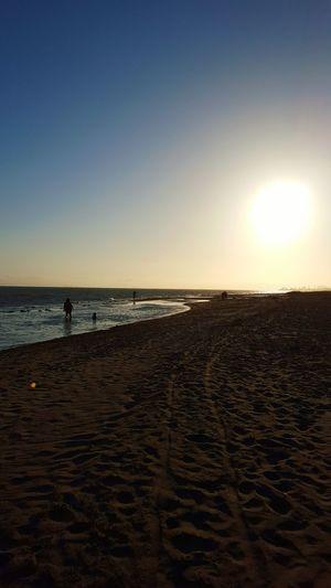 Beachphotography Beach Sunset_collection Sunsetatbeach Sand Sandtrail Footprints In The Sand Familyatthebeach Calm Water Waves