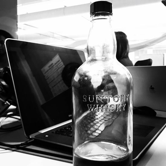 Motivation to drink water - Friday long meetings Glass - Material No People Close-up Communication Text Drinking Water