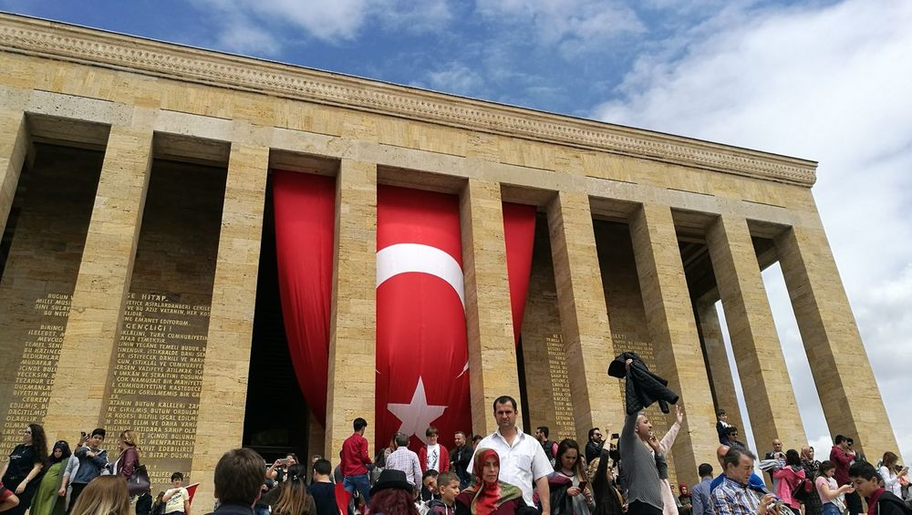 Architecture Architectural Column Built Structure History Flag Large Group Of People Travel Destinations Real People Red Outdoors Sky Building Exterior Day People No Filter, No Edit, Just Photography No Filter No Edit/no Filter Adults Only Turkish Flag Cityscape EyeEm Best Shots Anıtkabir Anitkabir Ankara Anitkabir Museum Architecture