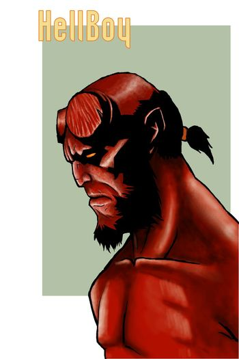 Hellboy Red Sketch Art Colors This Is PAINT Dark Horse Comics Drawing
