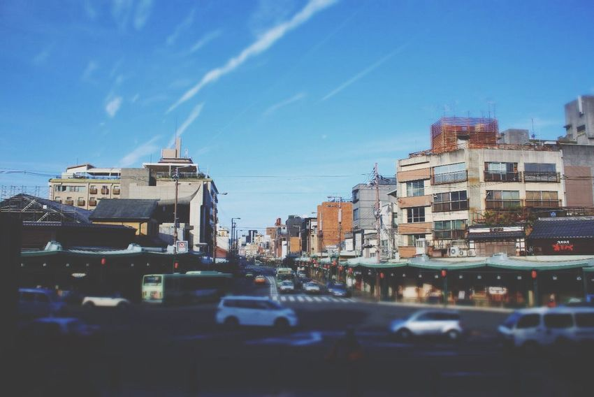 Kyoto Kyoto, Japan Japan Yasaka-jinja Shrine Gion Blue Blue Sky Green Road Car Cars Cloud