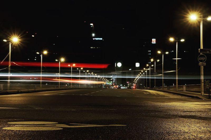 No Time EyeEm Masterclass EyeEm Best Shots Night Lights Nightphotography Long Exposure Time Night Illuminated Street Light Outdoors Sky No People