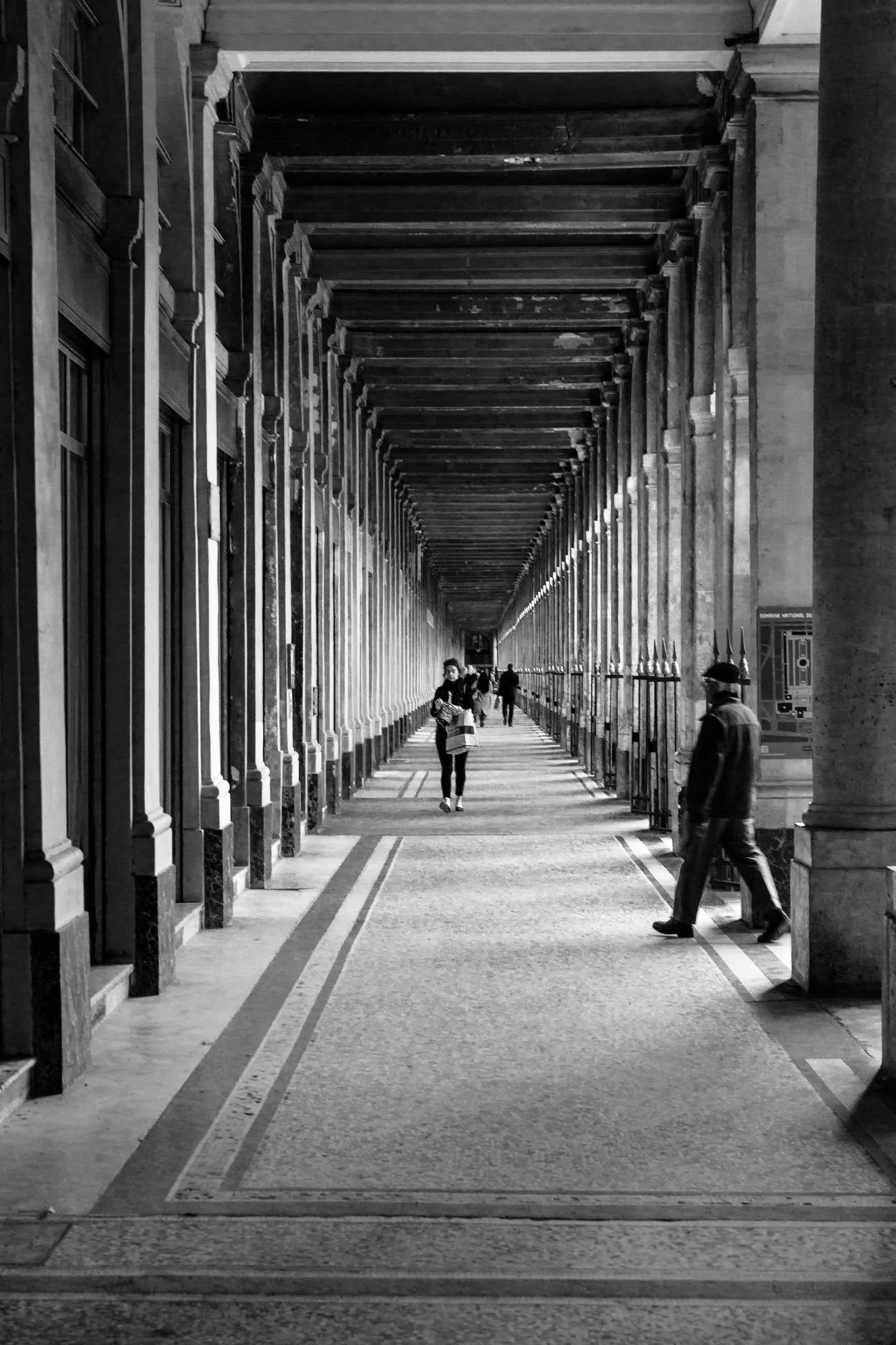 real people, the way forward, walking, architecture, in a row, men, built structure, architectural column, women, indoors, lifestyles, leisure activity, full length, day, one person, people
