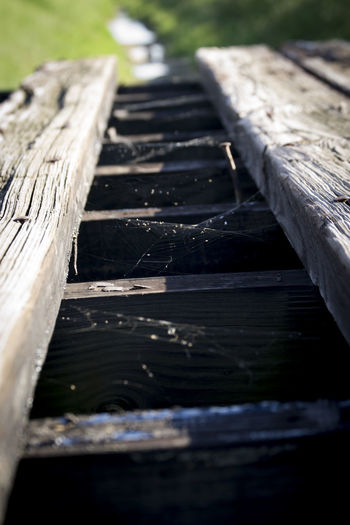 Close-up of wooden boardwalk