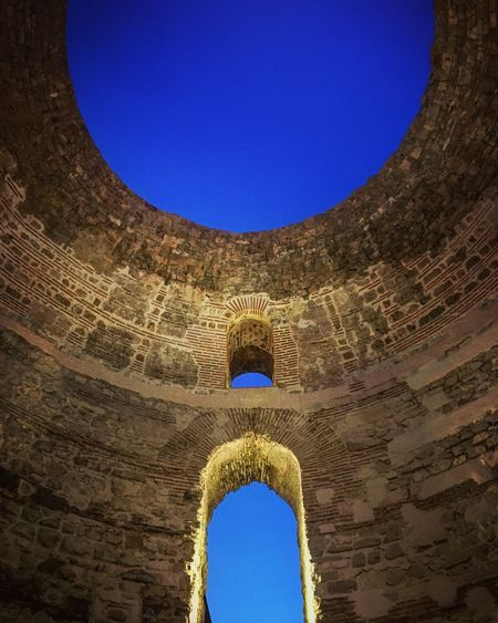 The Vestibule - Diocletian Palace Split Croatia Blue Diocletian's Palace Sky Shapes And Forms Shades Of Blue Beautiful Night Sky