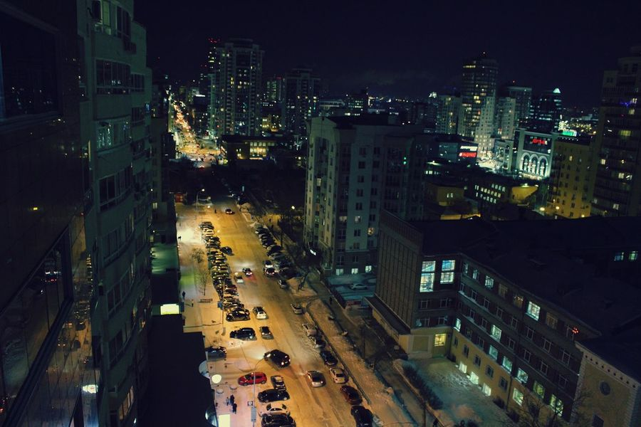 City Night Transportation High Angle View Illuminated Traffic Motion City Life Cityscape Performance Popular Photos Taking Photos First Eyeem Photo Екатеринбург Russia Cold Temperature Snow Architecture City Hello World Photography My Photography