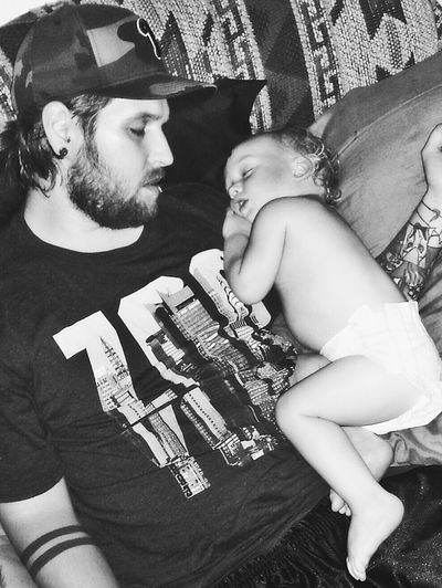 What I Value is That I Have a Wonderful Daddy for My Children! ♡ ~ Taking Photos EyeEm Gallery Monochrome Blackandwhite Photography Black&white Photography Sleeping Sleep Sleepytime Father & Son