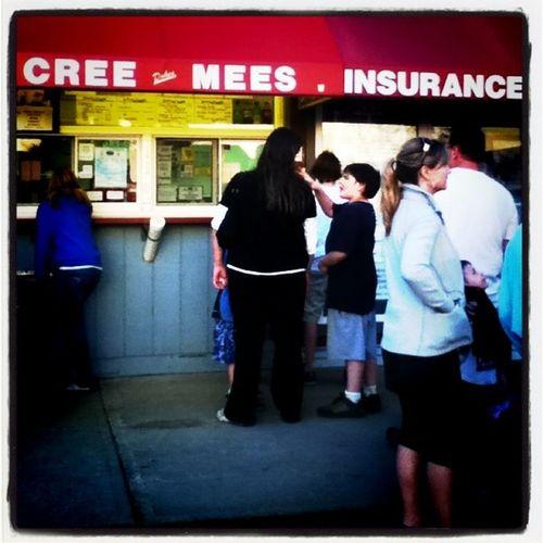 Hmmm.....Get the insurance before you get the creemee! LOL! #ice-cream #creemee #btv #Milton Ice Milton Btv Creemee