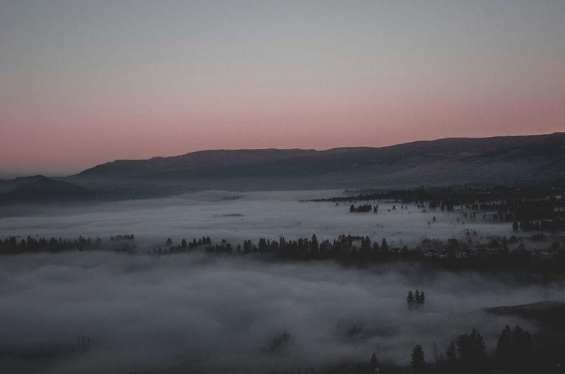 Fog covered
