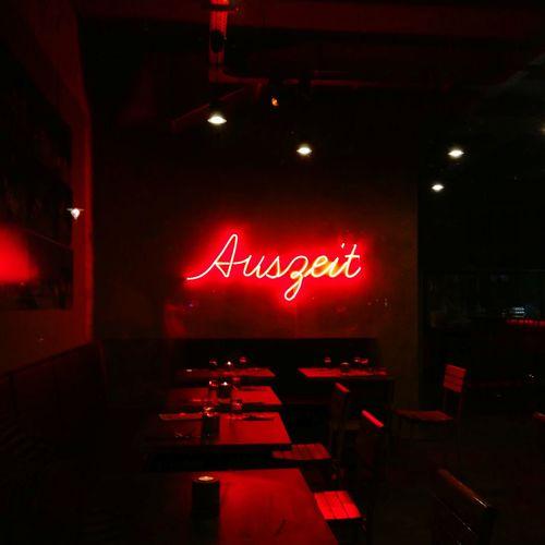 Red Text Restaurant Illuminated Cafe Bar - Drink Establishment Night Indoors  No People Pub City Neon Nightclub Neonletters