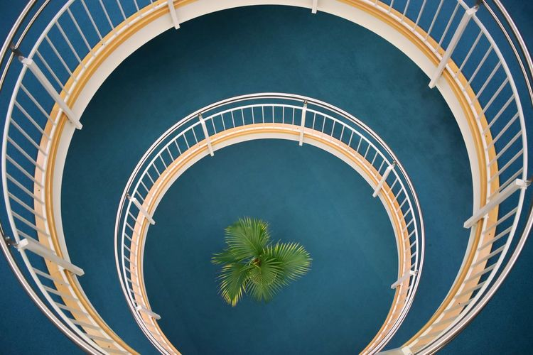 Architecture Built Structure Curve Day High Angle View No People Outdoors Point Of View Spiral Spiral Staircase Staircase Steps And Staircases